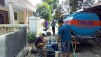 Warga lereng Gunung Wilis kekurangan air bersih (Liputan6.com/Dian Kurniawan)