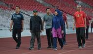 Wapres Ma'ruf Amin olahraga di GBK, Jakarta, Jumat (25/10/2019). (foto: dokumentasi setwapres)
