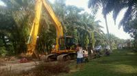 Alat berat milik pecatan TNI yang kuasai ribuan hektar lahan Cagar Biosfer. (Liputan6.com/M Syukur)