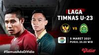 Laga Uji Coba Timnas U-23 vs Bali United, Minggu (7/3/2021) pukul 20.00 WIB dapat disaksikan live streaming melalui kanal Indosiar di platform Vidio. (Dok. Vidio)
