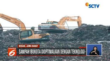 Tumpukan sampah di TPST Bantargebang akan diolah dengan teknologi khusus sehingga bisa jadi sumber bahan bakar pengganti batu bara.