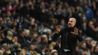 Manajer Manchester City, Pep Guardiola. (AFP/Oli Scarff)
