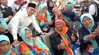 Menteri Agama Lukman Hakim Saifuddin lepas pemulangan kloter terakhir jemaah haji Indonesia. (www.haji.kemenag.go.id)