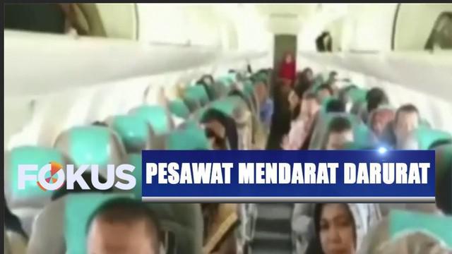 Suasana sempat tegang lantaran para penumpang yang terlanjur panik setelah gagal mendarat di Bandara Soekarno Hatta marah dan tetap memaksa turun.