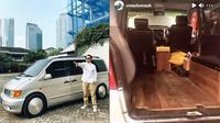 Penampakan mobil Ananda Omesh yang diubah jadi ambulans untuk pasien Covid-19. (Instagram/@dianayulestari/@omeshomesh)