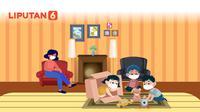 Banner Infografis Tak Perlu ke Mal, Anak Lebih Baik di Rumah Saja. (Liputan6.com/Niman)