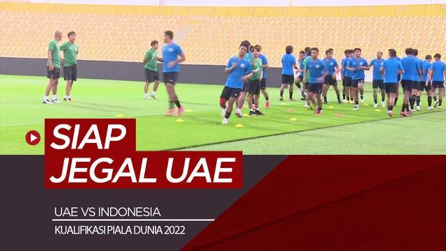 Berita video latihan Timnas Indonesia jelang lawan UAE di Grup G Kualifikasi Piala Dunia 2022. Timnas tidak didampingi Shin Tae-yong