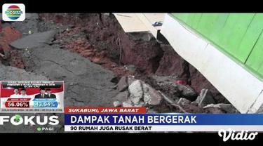 Fenomena tanah bergerak di Sukabumi membuat kondisi tanah di sekitar TPU setempat porak-poranda.