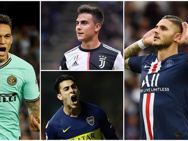 Berikut ini tujuh pemain yang diprediksi menjadi penerus Lionel Messi di Timnas Argentina. (Foto Kolase AFP)