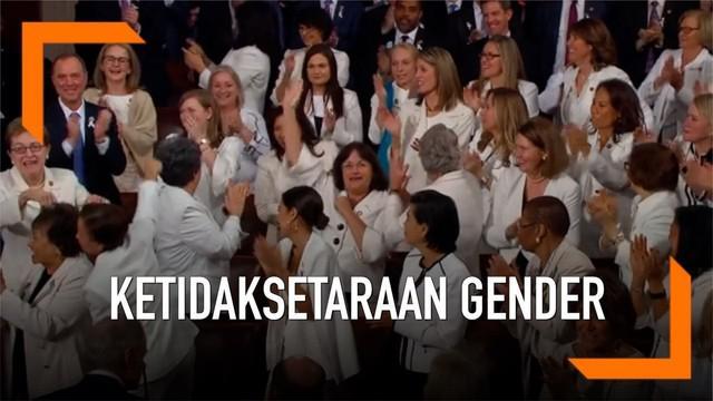 Sejumlah perempuan anggota Kongres AS menggunakan baju berwarna putih dalam pidato kenegaraan Donald Trump. Apa makna warna putih dalam acara tersebut?