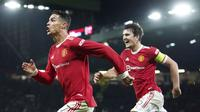 Manchester United berhasil meraih kemenangan dramatis 3-2 atas Atalanta di matchday ketiga Grup F Liga Champions. (AP/Martin Rickett)
