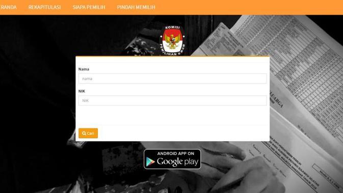 Cari Tahu Lokasi TPS Kamu di Laman lindungihakpilihmu.kpu.go.id - Pilpres Liputan6.com