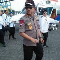 Kapolri, Jenderal Pol Tito Karnavian, di Posko Terpadu Angkutan Lebaran (Angleb) 2018, di Terminal Terpadu Merak (TTM), Kota Cilegon, Banten, Senin (11/06/2018). (Liputan6.com/Yandhi Deslatama)