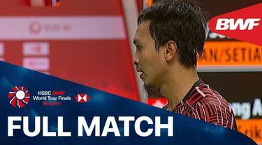 Berita Video Laga Kemenangan Mohammad Ahsan / Hendar Setiawan Mengalahkan Wakil Malaysia di BWF World Tour Finals 2020 (29/1/2021)