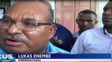 Merebaknya wabah campak dan gizi buruk di Asmat ini membuat Gubernur Papua Lukas Enembe marah.