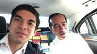Nge-vlog bareng Presiden Jokowi, menteri termuda Malaysia, Syed Saddiq bikin banyak perempuan jatuh hati dengan ketampanannya. (Foto: screen capture Instagram)
