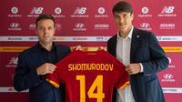 Pemain baru AS Roma, Eldor Shomurodov. (Twitter/AS Roma)