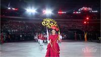 Kontingen Indonesia saat diperkenalkan di Asian Para Games 2018. (Vidio.com)