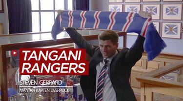 Berita video mantan kapten Liverpool, Steven Gerrard, diumumkan menjadi manajer Rangers, pada hari ini, 4 Mei, 2018.