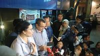 Ketua Divisi Advokasi dan Hukum DPP Partai Demokrat, Ferdinand Hutahaean, saat memberikan keterangan soal penangkapan Andi Arief. (Liputan6.com/Putu Merta Surya Putra)