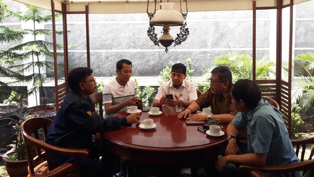 Koalisi Indonesia Kerja menggelar pertemuan di Rumah Cemara, Jalan Cemara Nomor 19, Menteng, Jakarta Pusat. (Merdeka.com)