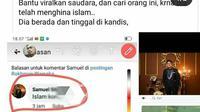 Tangkapan layar yang dijadikan sebagai bukti penistaan agama di Kabupaten Siak. (Liputan6.com/M Syukur)
