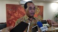 Menteri Perhubungan Budi Karya Sumadi di rumah dinas, Jumat (15/6/2018).