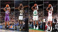 Bintang NBA, Ray Allen, mengumumkan pensiun dalam usia 41 tahun lewat surat singkat di situs Players Tribune, Selasa (2/11/2016). (Bola.com/Twitter/espn)