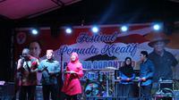 Kemenpora menggelar Festival Pemuda Kreatif di Kota Gorontalo, Jumat (20/12/2019). (Foto: Liputan6.com/Arfandi Ibrahim).