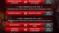 Kompetisi eSports IEL University Super Series 2021 dapat disaksikan melalui platform Vidio, laman Bola.com, dan Bola.net. (Dok. Vidio)
