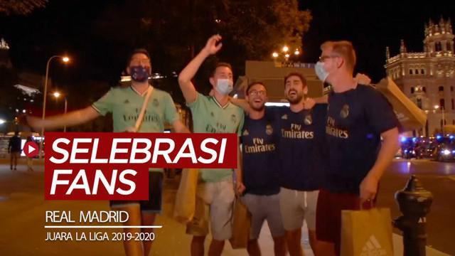 Berita video melihat cara fans Real Madrid untuk merayakan gelar juara La Liga 2019-2020.