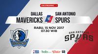 Jadwal NBA, Dallas Mavericks Vs San Antonio Spurs. (Bola.com/Dody Iryawan)
