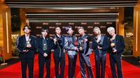 BTS dalam Billboard Music Awards 2021. (Twitter/ bts_bighit)