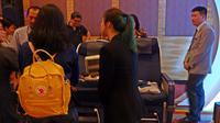 HSBC-ANA Travel Fair di Grand Ballroom 3, Pullman Central Park, Jakarta. (Liputan6.com/Asnida Riani)