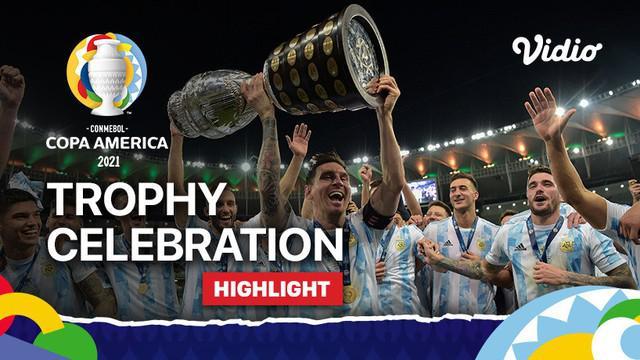 Berita video selebrasi juara Copa America 2021, Neymar dan Lionel Messi Berbagi Kebahagiaan