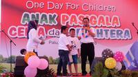 One Day For Children, persembahan untuk anak-anak Pasigala. (foto: dok. Kemensos)
