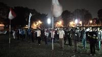 Semarakkan HUT ke-70 RI, lomba Hormat Bendera 17 Jam digelar di Bogor. (Liputan6.com/Bima Firmansyah)