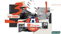 Shopee Liga 1 - 3 Gol Terbaik (Bola.com/Adreanus Titus)