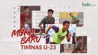 Muka baru P\pemain Timnas Indonesia U-23, T.M. Ichsan , Mahir Radja Djamaoeddin , Kadek Raditya , dan Feby Eka Putra. (Bola.com/Dody Iryawan)