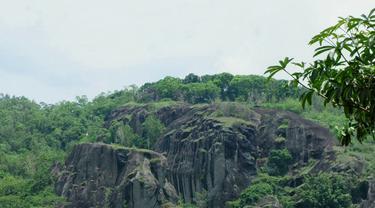 Pemandangan puncak Gunung Api Purba dari bawah.   Foto: Laudia Tysara