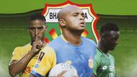 Bhayangkara FC - Renan Silva, Anderson Salles, Ezechiel Ndouassel (Bola.com/Adreanus Titus)