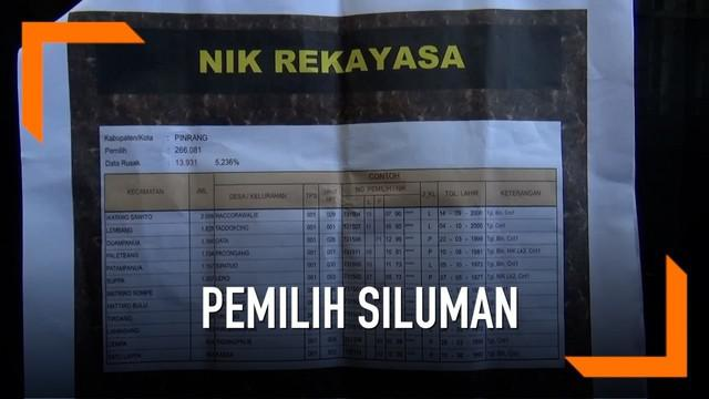 Seorang caleg melaporkan adanya dugaan ribuan pemilih siluman di Pinrang, Sulawesi Selatan.