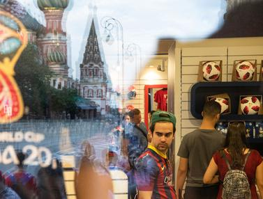 Potret Suasana Kota Moskow Jelang Final Piala Dunia 2018