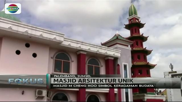 Masjid Muhammad Cheng Hoo di Palembang ini dijuluki sebagai simbol keberagaman budaya, karena memiliki bentuk dan arsitektur yang unik.