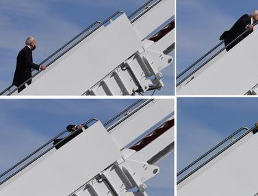 Joe Biden Tersandung di Tangga Air Force One