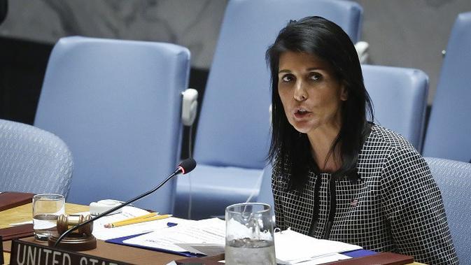 Dubes AS untuk PBB Nikki Haley mengecam keputusan Rusia untuk memveto rancangan resolusi DK PBB (AP/Bebeto Matthews)#source%3Dgooglier%2Ecom#https%3A%2F%2Fgooglier%2Ecom%2Fpage%2F%2F10000