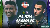 Shopee Liga 1 - PS Tira Vs Arema FC - Head to Head Pemain (Bola.com/Adreanus Titus)