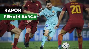 Barcelona secara mengejutkan disingkirkan AS Roma dari babak 8 besar Liga Champions karena kalah agresifitas gol tandang.