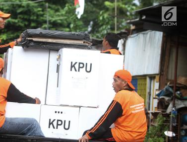 Pengiriman Logistik Pemilu 2019 ke Wilayah RW