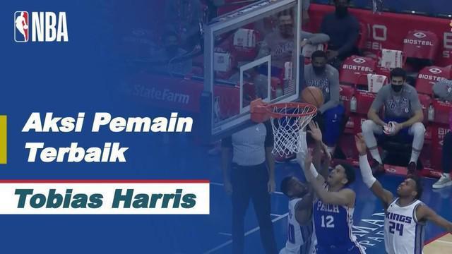 Berita video aksi pemain terbaik NBA hari ini ada bintang bintang Philadelphia 76ers, Tobias Harris.